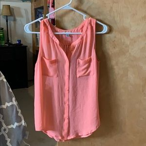 Sheer sleeveless top